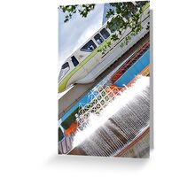The Green Monorail Greeting Card