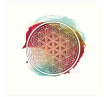 Meditative Flower Of Life Art Print