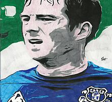 Leighton Baines Everton Comic Book Image by chrisjh2210
