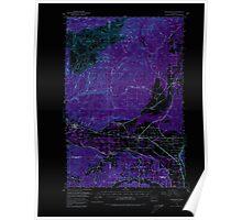 USGS Topo Map Washington State WA Rochester 243489 1953 62500 Inverted Poster