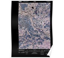 USGS Topo Map Washington State WA McKenna 20110405 TM Inverted Poster