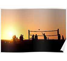Sunset Volleyball Poster