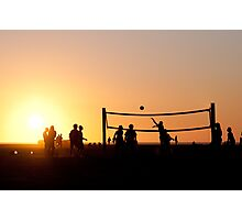 Sunset Volleyball Photographic Print