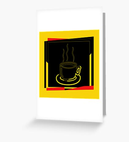 Coffee Cup - I love coffee (Tea) Greeting Card