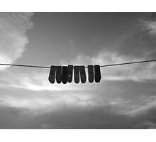hanging around on line Photographic Print