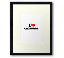 I Love CAMBRIA Framed Print