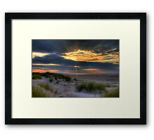 Ainsdale Sunset  Framed Print