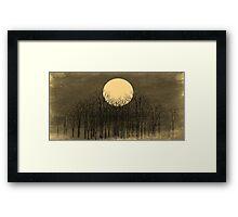 Vintage Sunset Framed Print