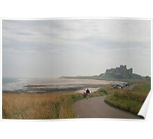 Bamburgh Beach and Castle, Northumberland Poster