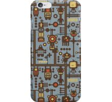 Robots blue. iPhone Case/Skin