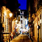 Side Street in Granada at Night by Jillian Rubman