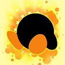 Super Smash Bros. Yellow Kirby Silhouette by jewlecho