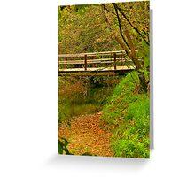 Hidden Foot Bridge Greeting Card