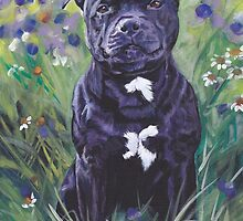 Staffordshire Bull Terrier Fine Art Painting by lashepard