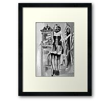 The One Sure Way of Pleasing a Woman is to Give Her a Bag of Sweet's & Mirror.. Framed Print