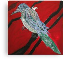 Clockwork Magpie seeing red Canvas Print