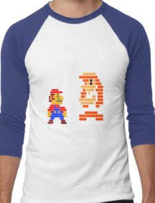 You complete me 8-bit mario Men's Baseball ¾ T-Shirt