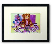 MR. TEDDY'S GARAGE SALE Framed Print
