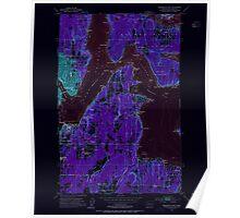 USGS Topo Map Washington State WA Bremerton East 240203 1953 24000 Inverted Poster