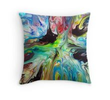 Abstract Fluid Painting 55 Throw Pillow