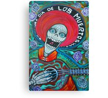 Dia De Los Muertos (Day Of The Dead Art ) Canvas Print