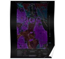USGS Topo Map Washington State WA Anacortes South 239811 1978 24000 Inverted Poster