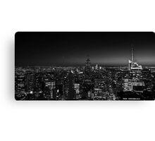 Manhattan at Night v2 Canvas Print