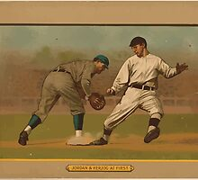 Benjamin K Edwards Collection Jordan & Herzog at first baseball card portrait by wetdryvac