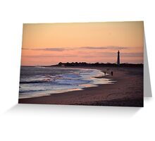 Sunset at the Cove Beach Greeting Card