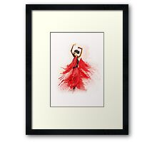 Bailaora de flamenco - Rojo y Negro Framed Print