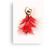 Bailaora de flamenco - Rojo y Negro Canvas Print