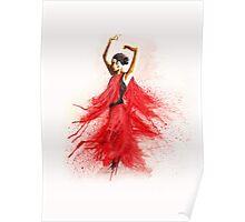 Bailaora de flamenco - Rojo y Negro Poster