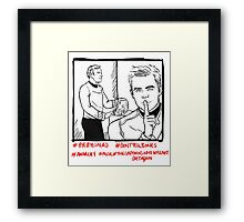 Kirk And Kirk And Salad Framed Print