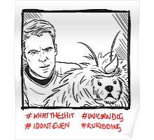 Kirk Meets UnicornDog Poster
