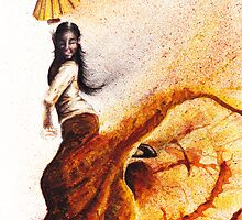 Bailaora de flamenco - Morena by TCottee