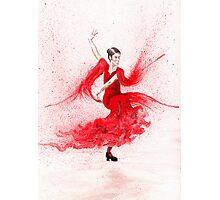 Bailaora de flamenco - Rojo Photographic Print