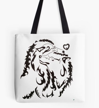 Tribal Wolf 2 Tote Bag