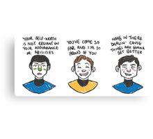 motivating triumvirate Canvas Print