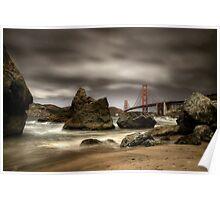 Golden Gate Bridge from Marshall Beach Poster