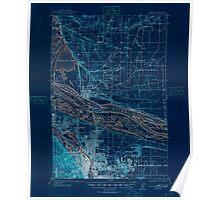 USGS Topo Map Washington State WA Portland 243246 1905 62500 Inverted Poster