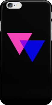 Pink & Blue Triangles on Black by x-pressions