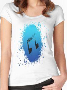 Vinyl Scratch's (DJ-Pon3) Cutie Mark Women's Fitted Scoop T-Shirt
