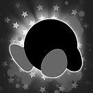Super Smash Bros. White/Grey Kirby Silhouette by jewlecho