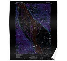 USGS Topo Map Oregon OR Deer Island 279606 1990 24000 Inverted Poster