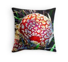 The Mushroom Experience Throw Pillow