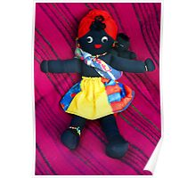 African Doll & Baby Poster