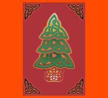 Celtic Christmas Tree (full) Kids Tee