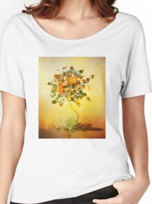 Orange Flowers in Vase Women's Relaxed Fit T-Shirt