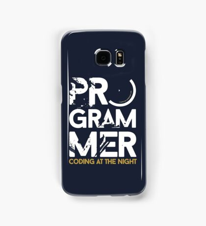 programmer - coding at the night Samsung Galaxy Case/Skin