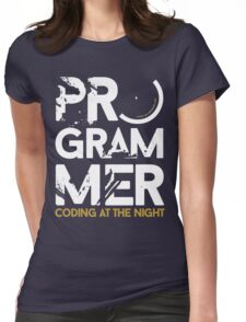 programmer - coding at the night Womens Fitted T-Shirt
